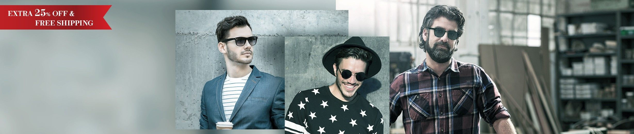 Glassesgallery - Men sunglasses banner